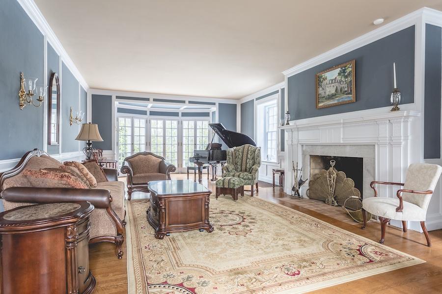 house for sale lower gwynedd smith mansion living room
