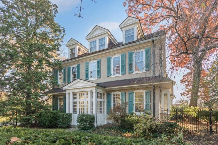 house for sale mt airy colonial exterior front