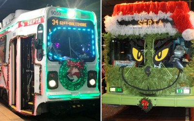 septa jolly trolley buses grinch
