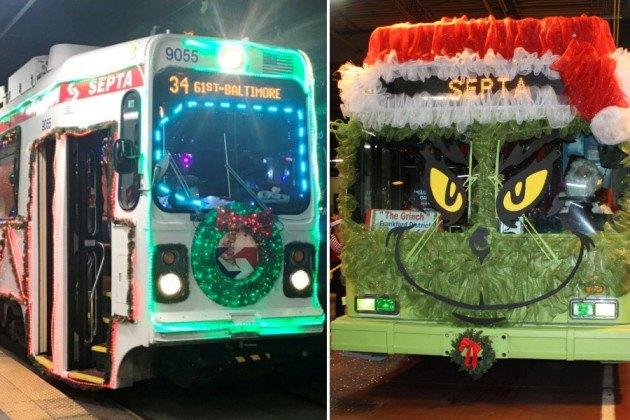 septa jolly trolley buses grinch