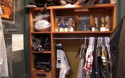 nick foles shrine eagles locker room