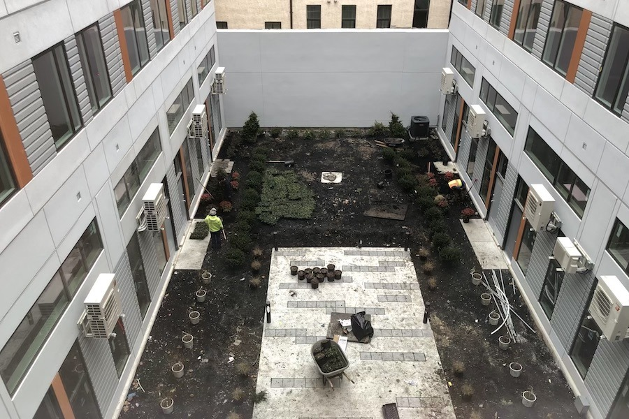 the national tour interior courtyard