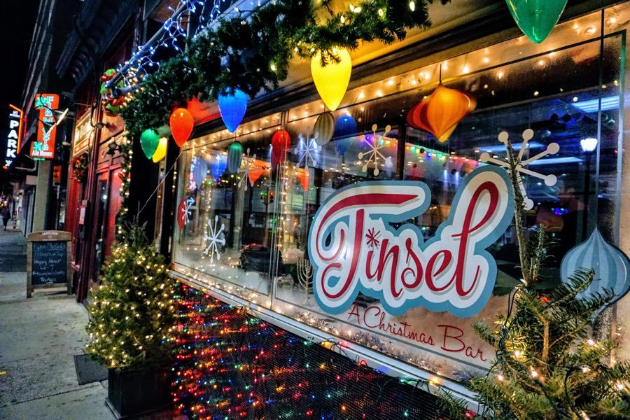 Christmas-Themed Pop-Up Bar Tinsel Returns to Midtown Village
