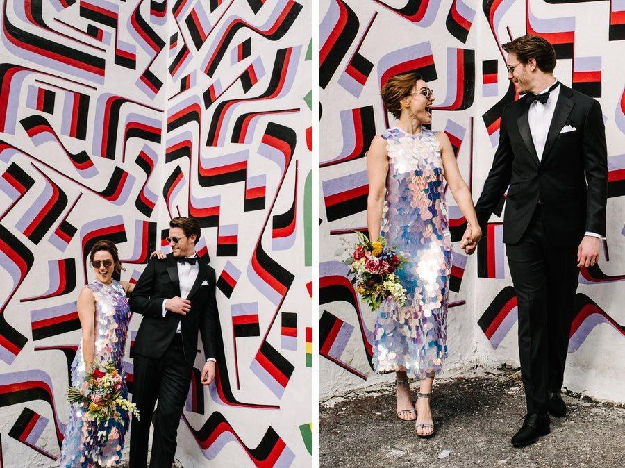 philadelphia mural wedding portraits