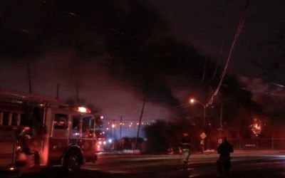 warehouse fire southwest philadelphia
