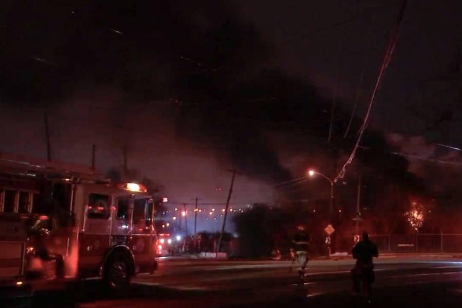 warehouse fire southwest philadelphia