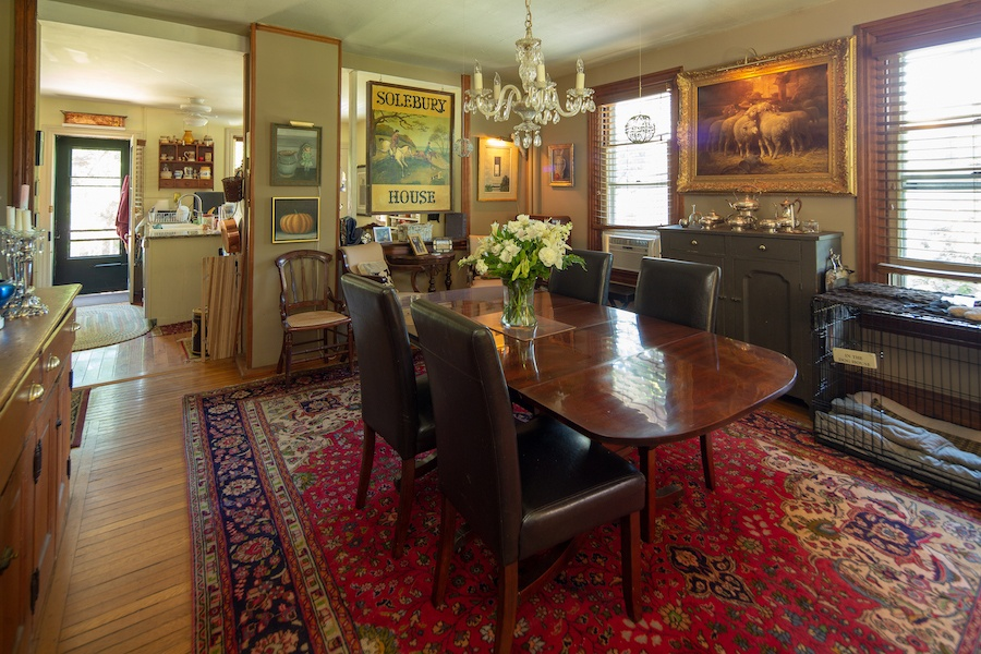 house for sale solebury historic post office dining room