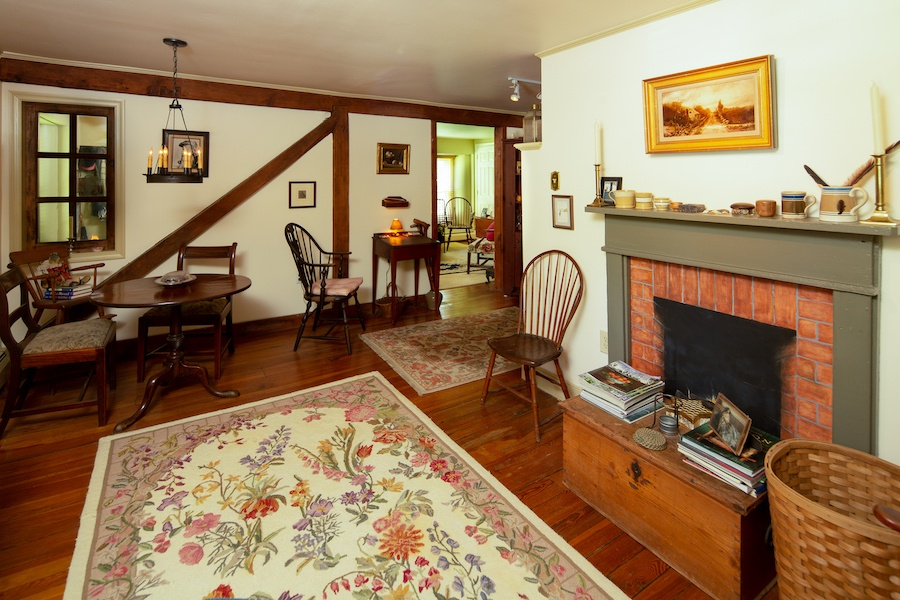 house for sale solebury historic post office living room