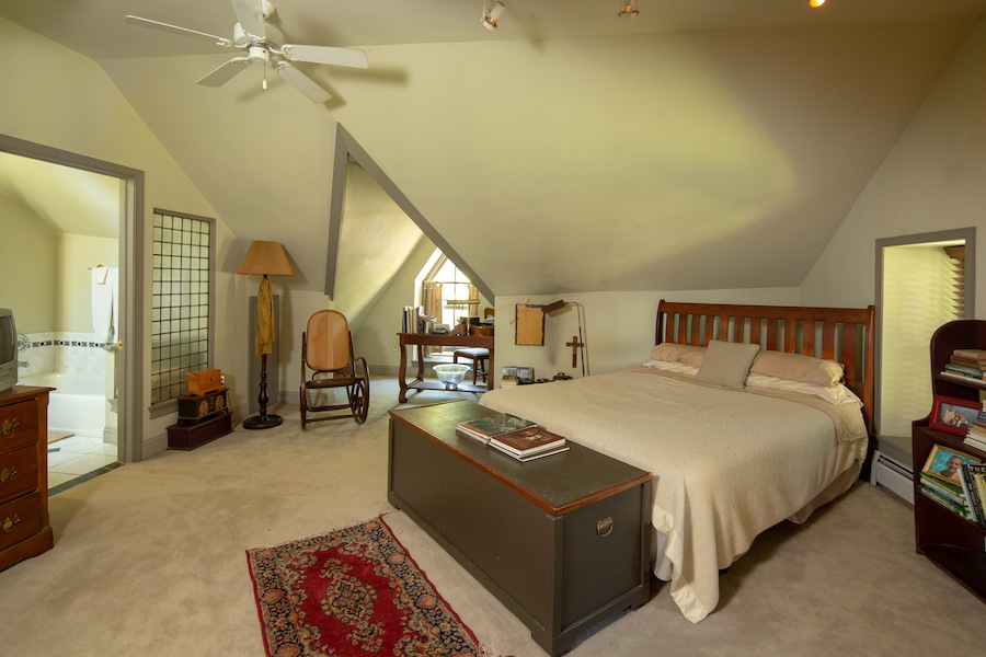 house for sale solebury historic post office master bedroom
