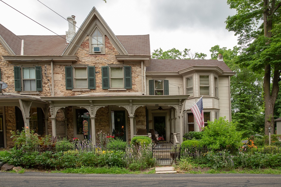 house for sale solebury historic post office front elevation