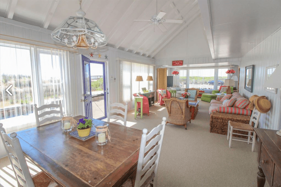 house for sale stone harbor beachfront cottage living and dining room