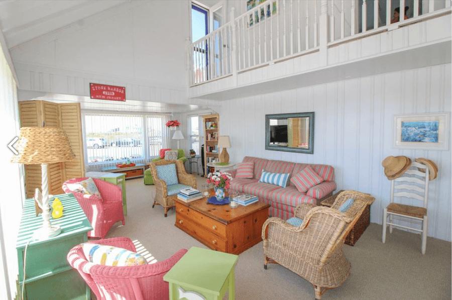 house for sale stone harbor beachfront cottage living room