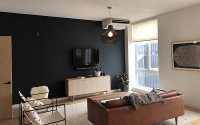 lokal hotel fishtown preview bi-level suite living room