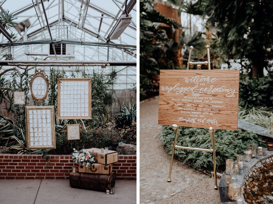 spring horticulture center wedding
