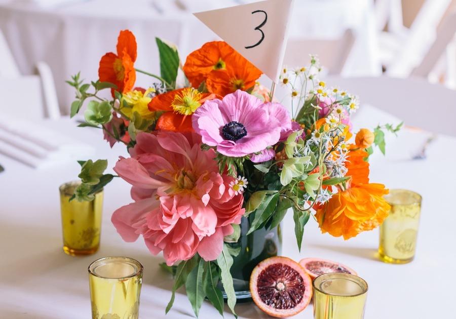 bright floral centerpiece
