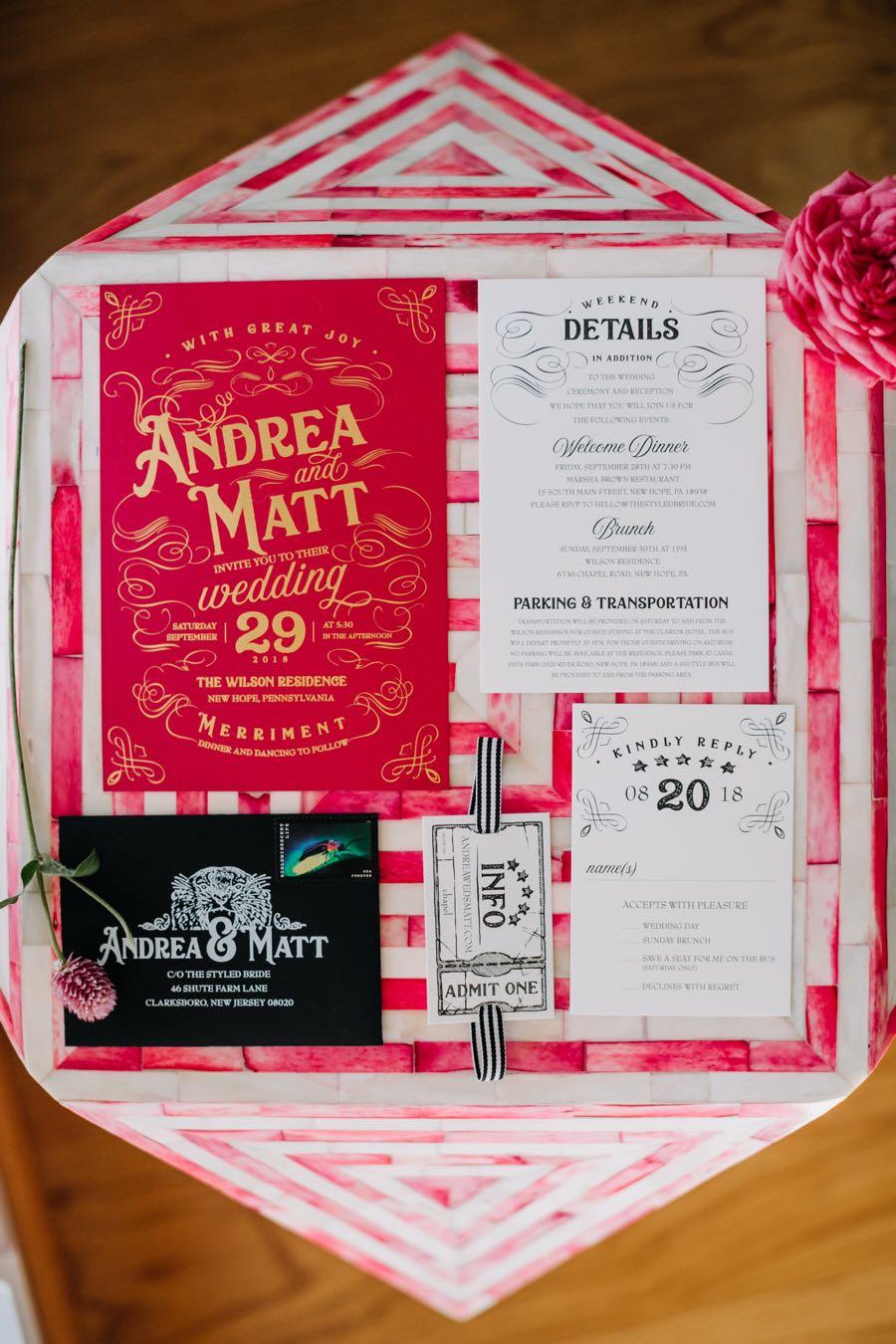 circus wedding invitations