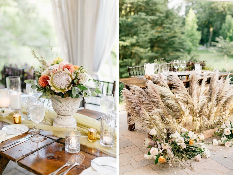 boho wedding reception decor