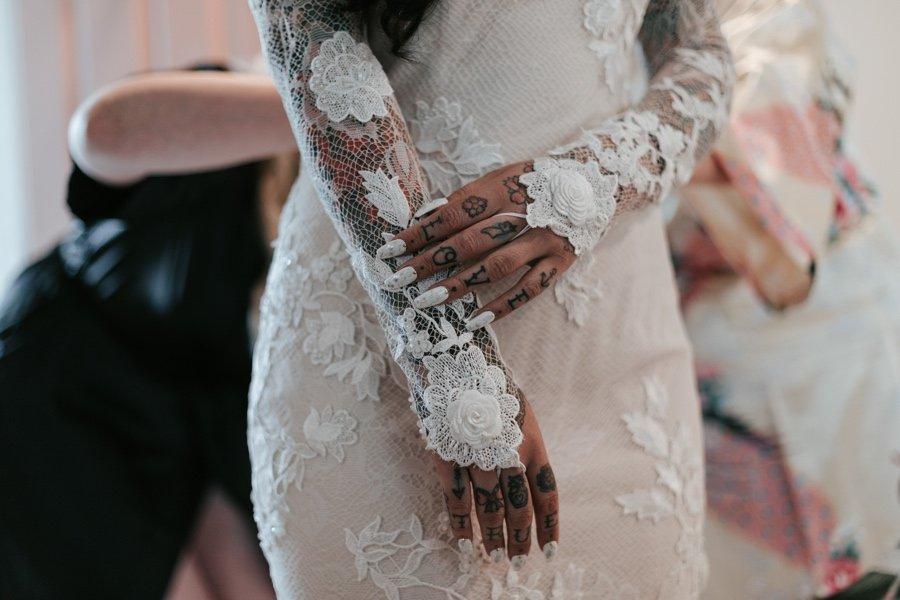 tattooed bride