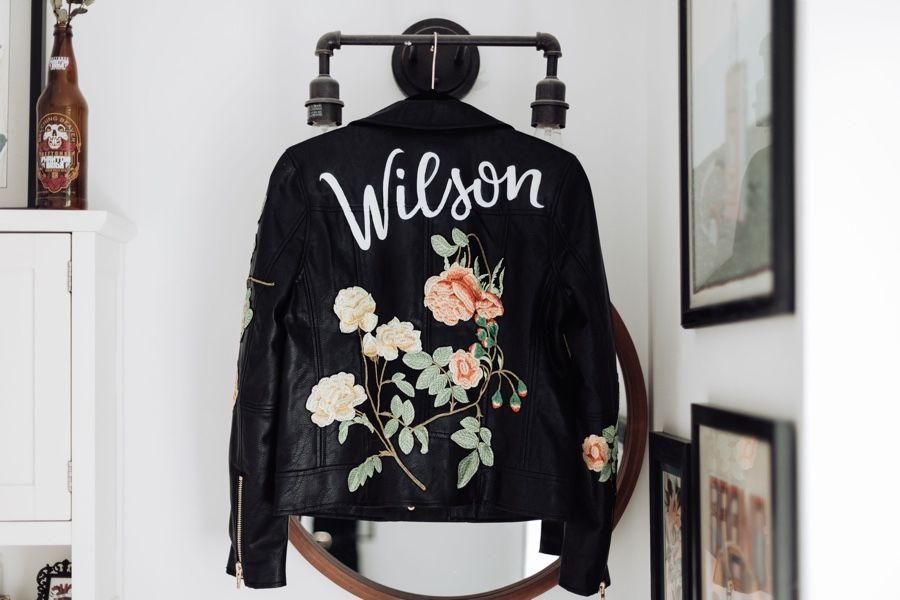 bride leather jacket