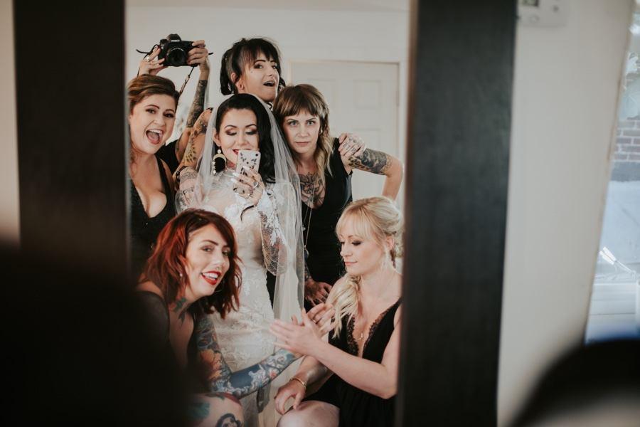 hipster bridesmaids