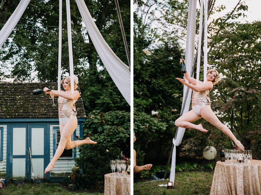 aerialist wedding performer