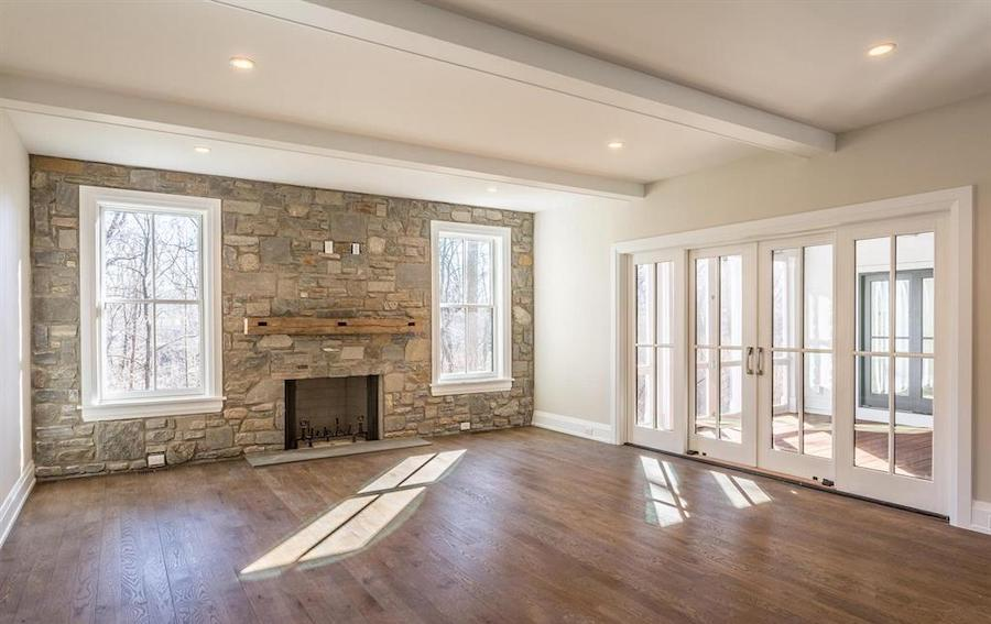 house for sale chestnut hill new farmhouse family room