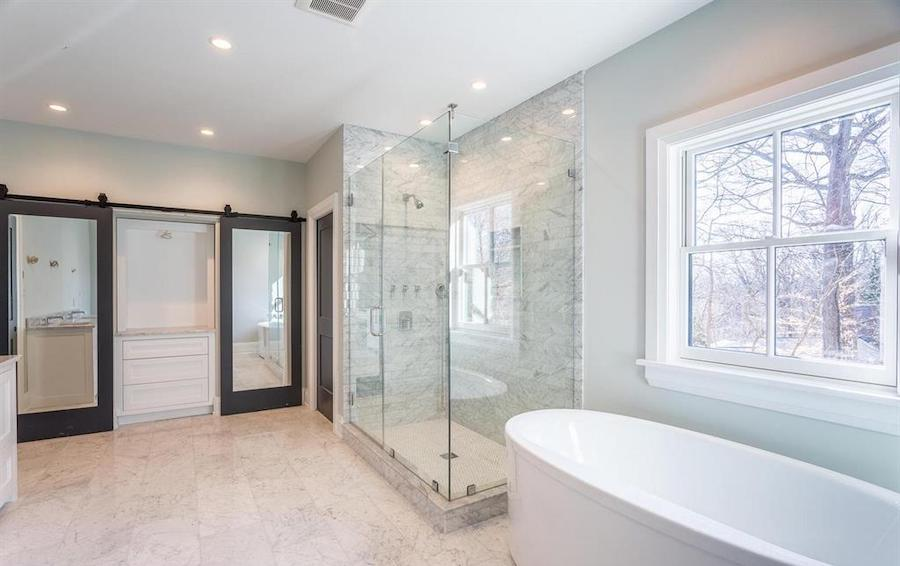 house for sale chestnut hill new farmhouse master bathroom
