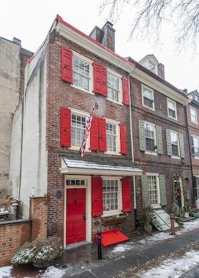 house for sale elfreths alley oldest house front elevation