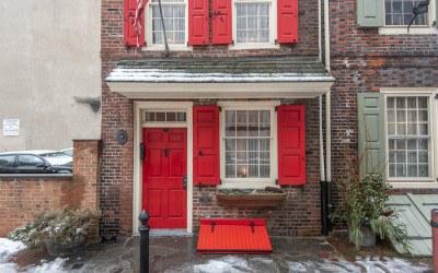 house for sale elfreths alley oldest house front door