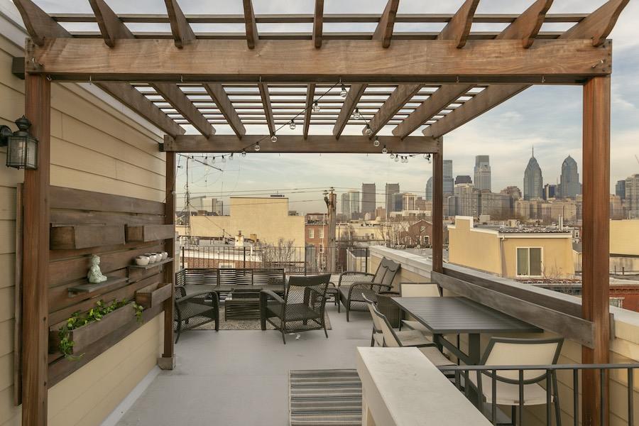 house for sale graduate hospital mansard roof deck