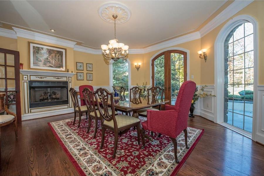 house for sale malvern hilltop chateau dining room