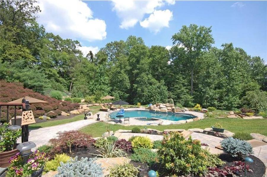 house for sale malvern hilltop chateau backyard and pool