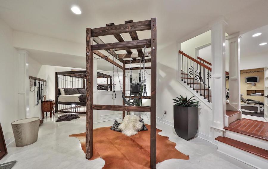 maple glen bondage house ambler basement rec room/bedroom