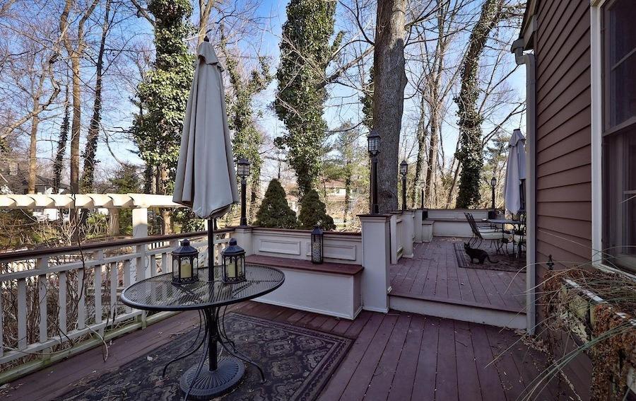 maple glen bondage house ambler rear deck and arbor