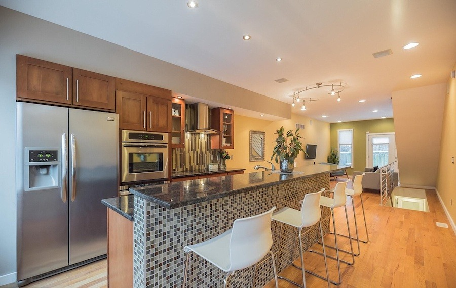 house for sale roxborough modern rowhouse kitchen