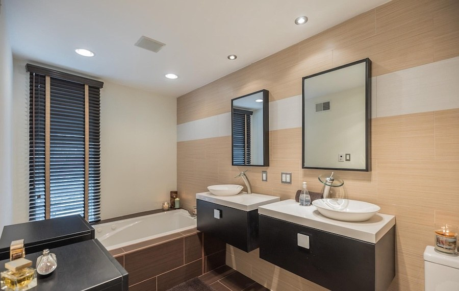 house for sale roxborough modern rowhouse master bathroom