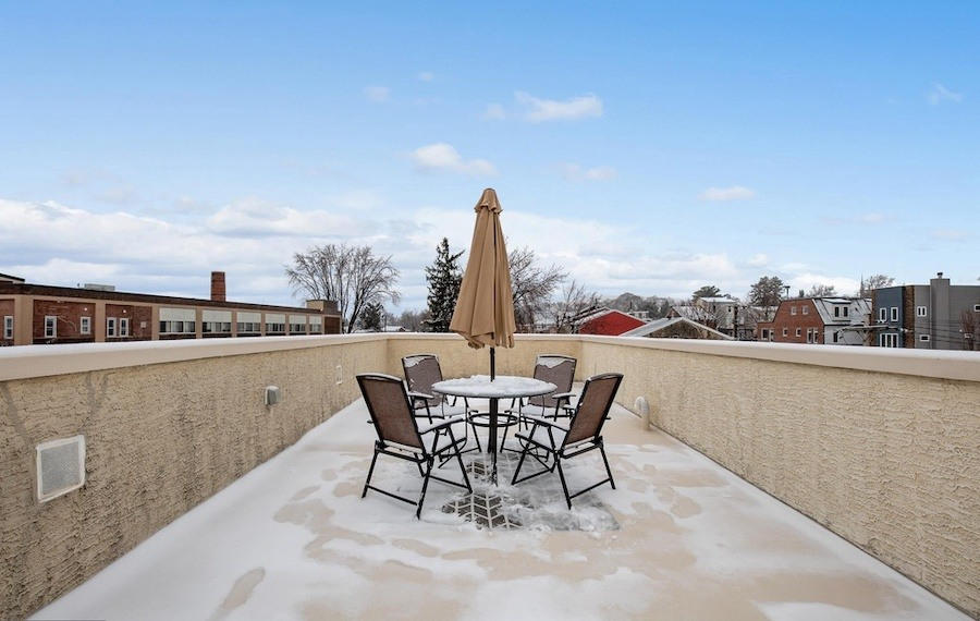 house for sale roxborough modern rowhouse roof deck