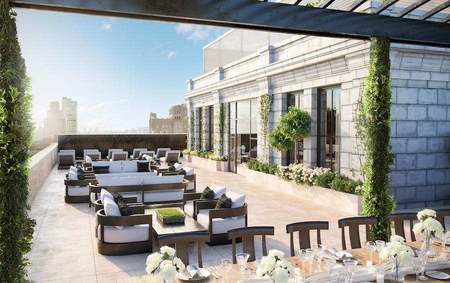 the atlantic apartments terrace level dining area