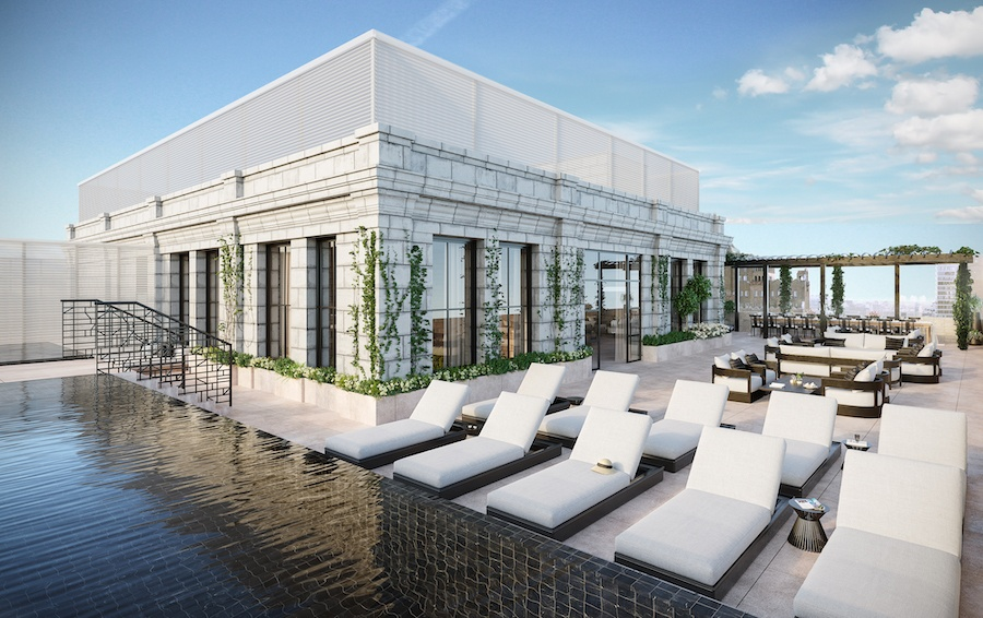 the atlantic apartments terrace level pool