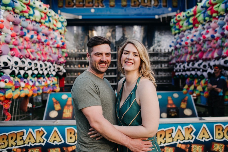carnival engagement photos
