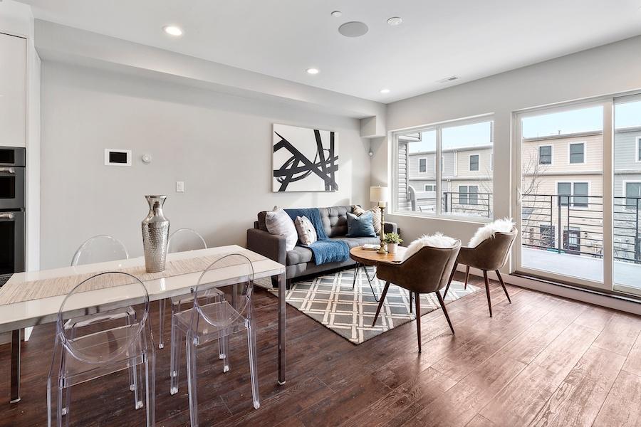 condo for sale francisville new bilevel living room