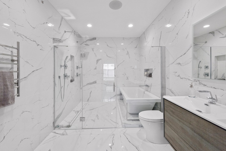 condo for sale francisville new bilevel master bathroom