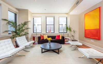 condo for sale rittenhouse modern unit living room