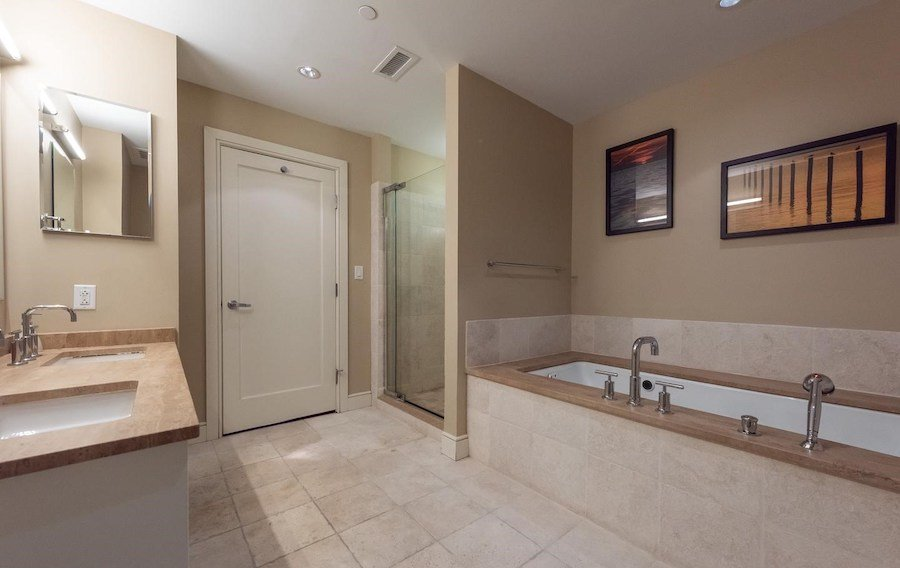 condo for sale rittenhouse modern unit master bathroom