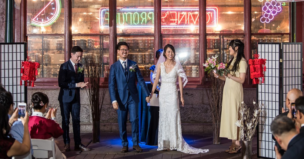 The Police Shut Down Filbert Street for This Reading Terminal Market Wedding