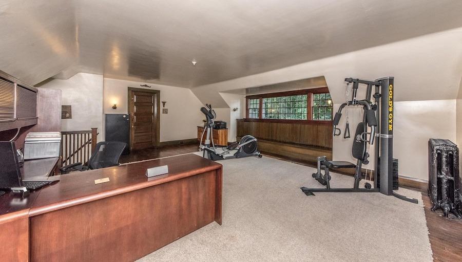 house for sale elkins park edwardian manor home office/gym