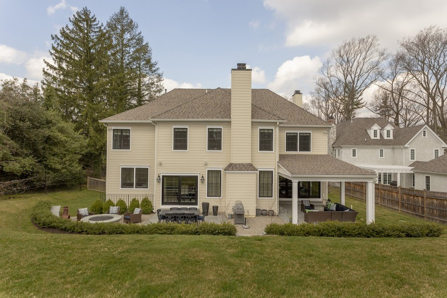 house for sale mt airy new colonial rear elevation