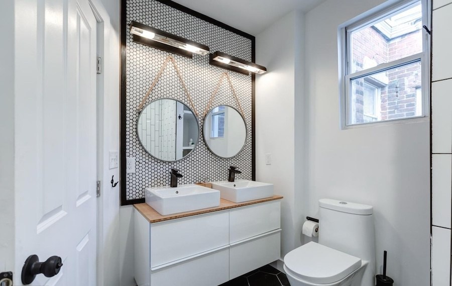 house for sale west passyunk rehabbed row upstairs bathroom
