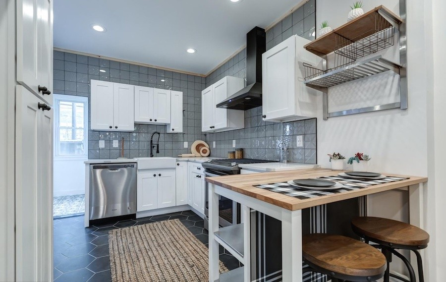 house for sale west passyunk rehabbed row kitchen