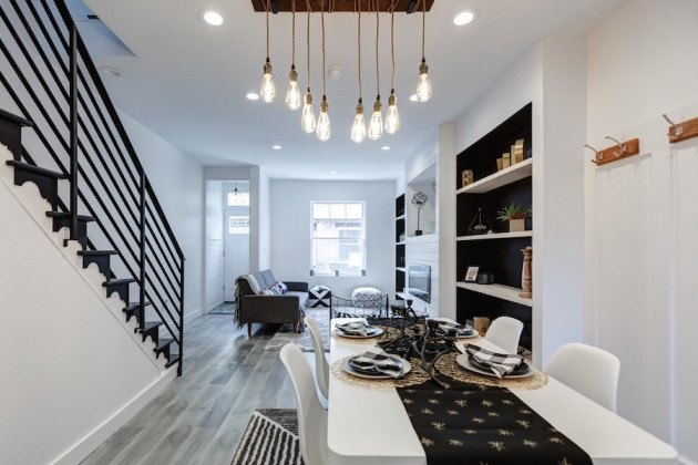 house for sale west passyunk rehabbed row dining and living rooms